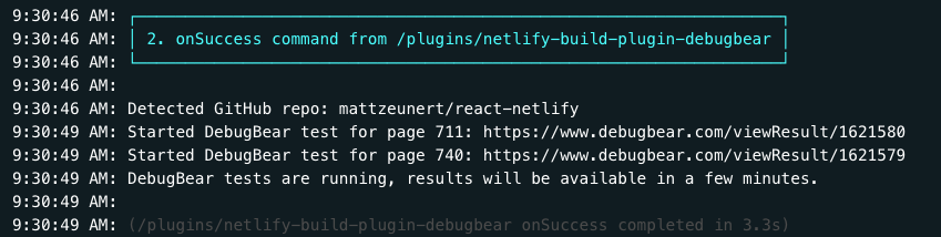 Netlify build logs