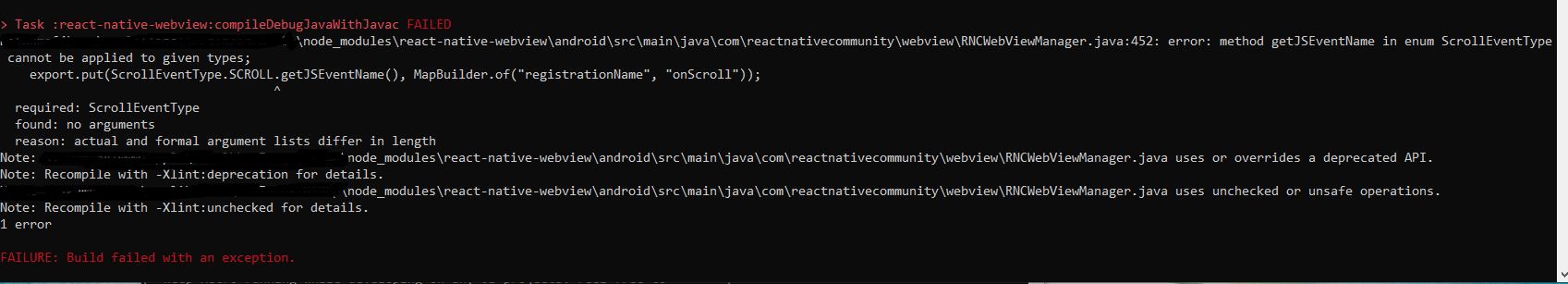error: method getJSEventName in enum ScrollEventType cannot