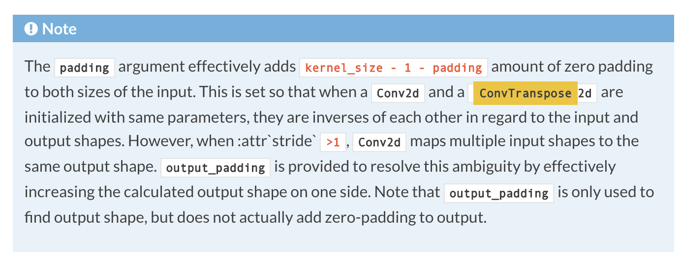 bug report] ConvTranspose is not padding output with zero · Issue