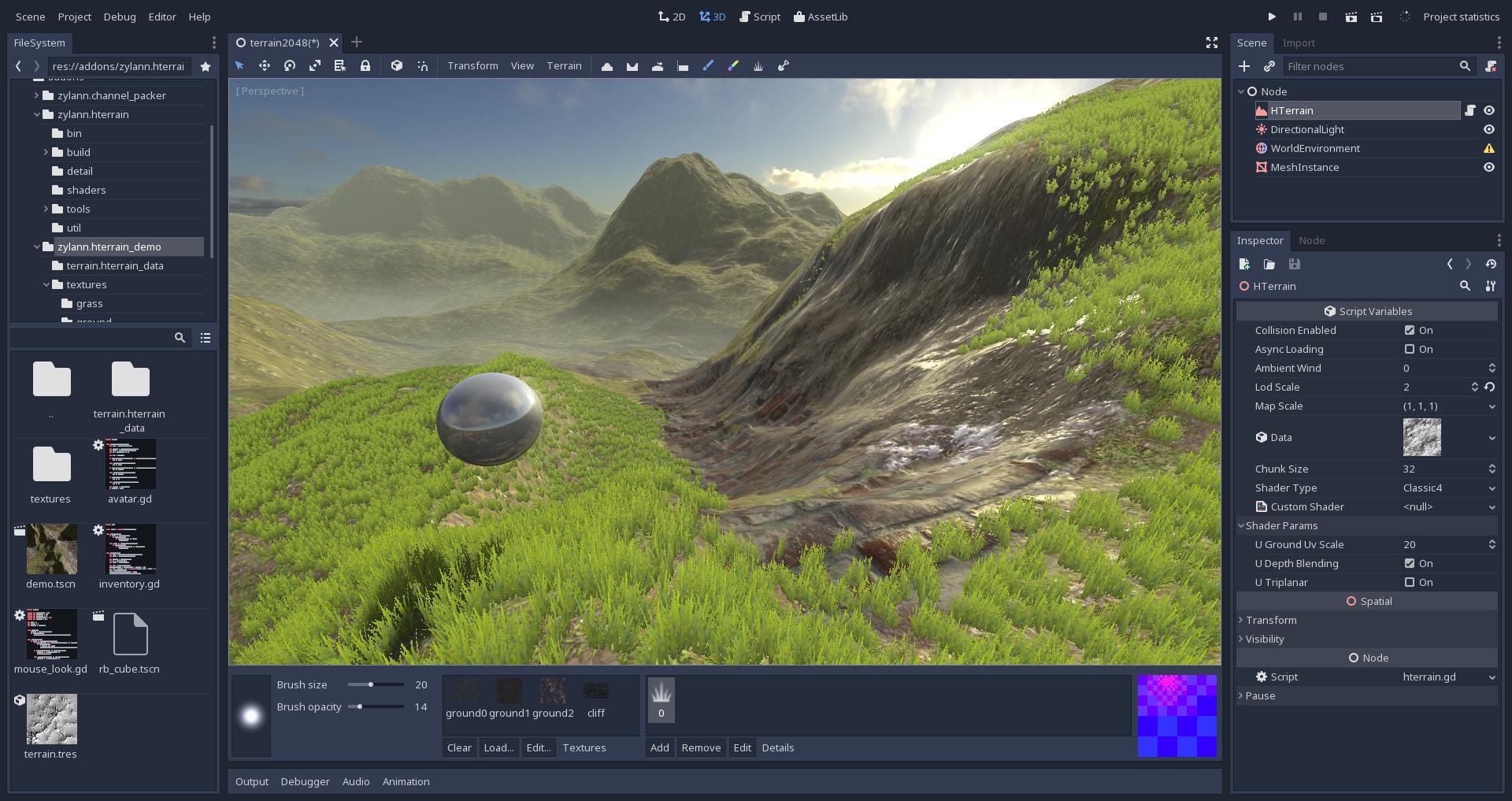 GitHub - Zylann/godot_heightmap_plugin: HeightMap terrain for Godot