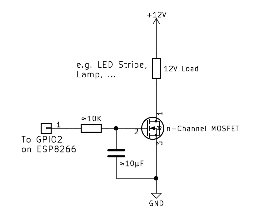 Fritzing for the wiring · Issue #4 · Jeija/esp8266-light ... on