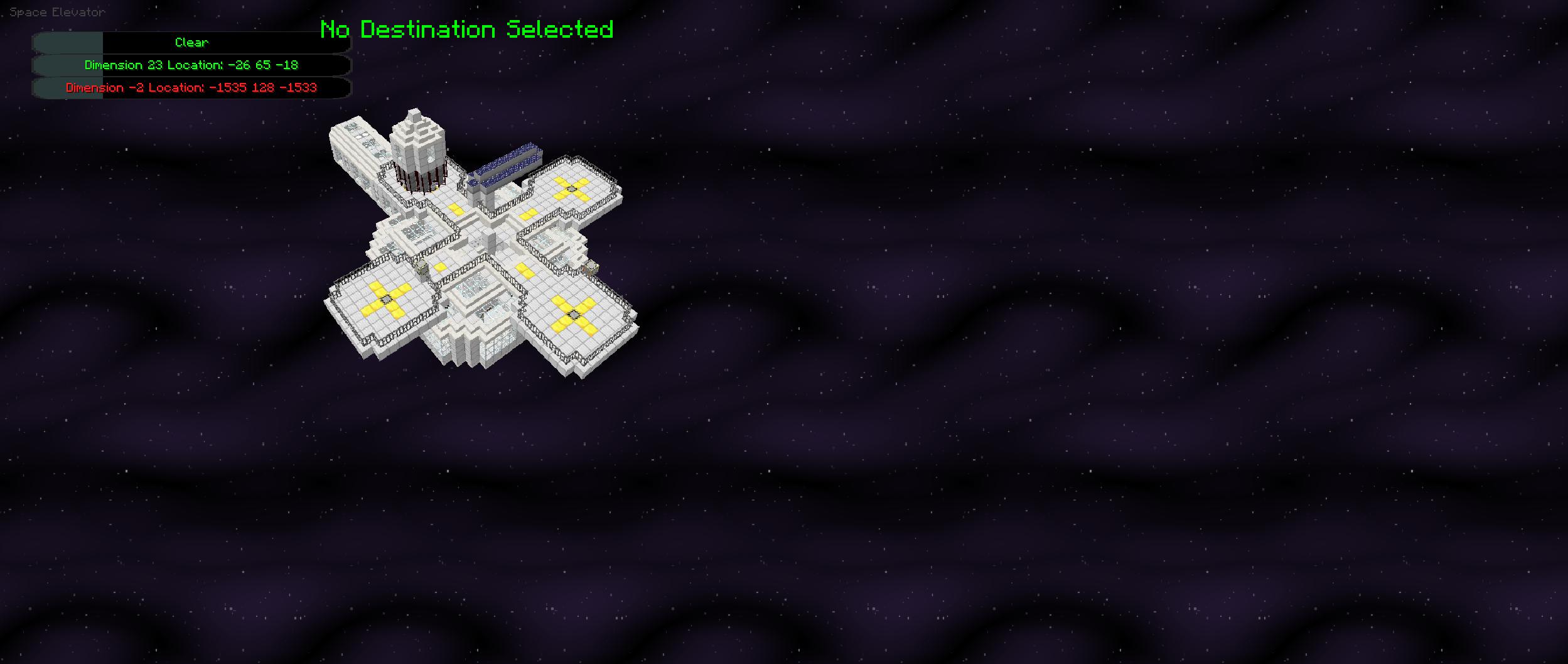Space Elevator won't let me select valid destination