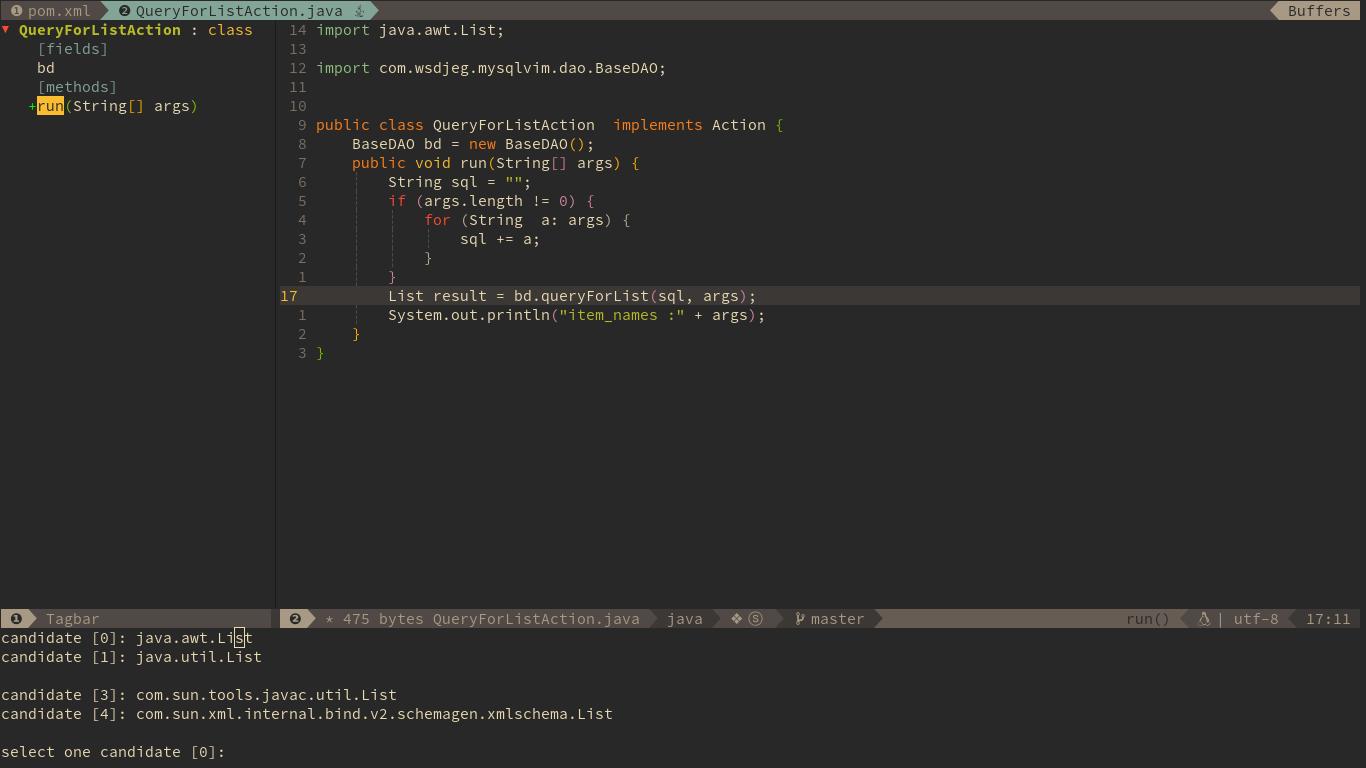 Use Vim as a Java IDE | SpaceVim