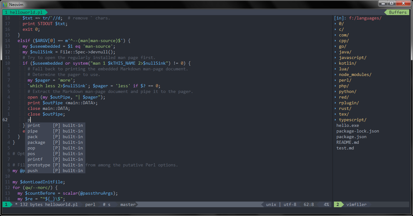 Use Vim as a Perl IDE | SpaceVim