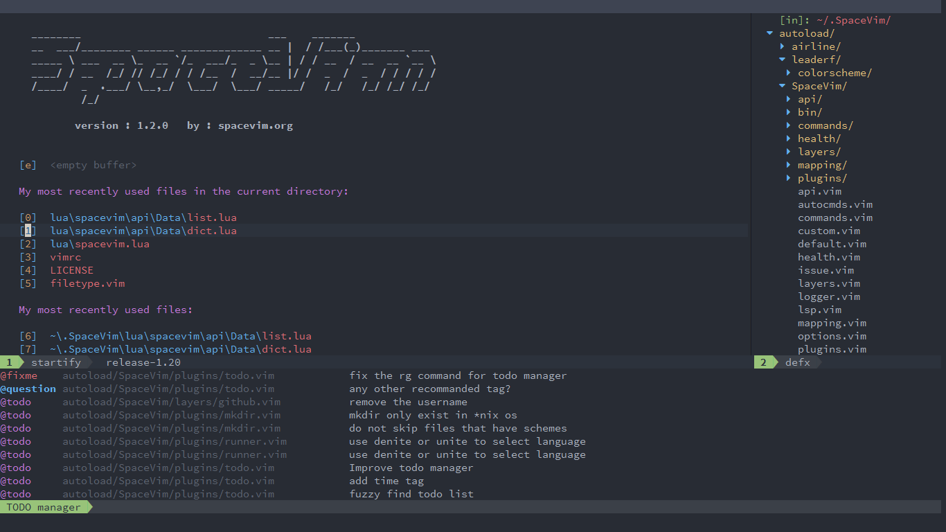 Quick start guide | SpaceVim