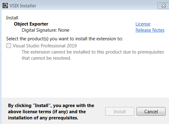 Visual Studio 2019 Install Failing · Issue #84 · OmarElabd