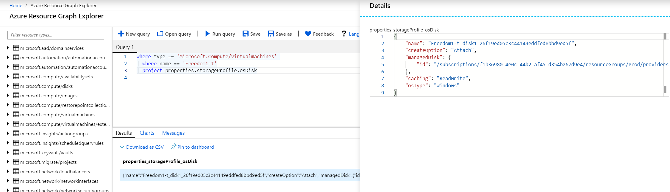 Azure Resource Graph missing some properties of VM objects