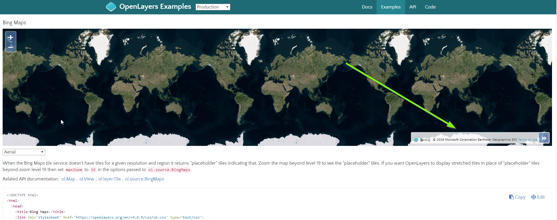 Bing Map attribution not updated correctly · Issue #7987