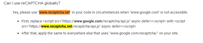 Add domain setting of the Google Captcha to the options · Issue #18