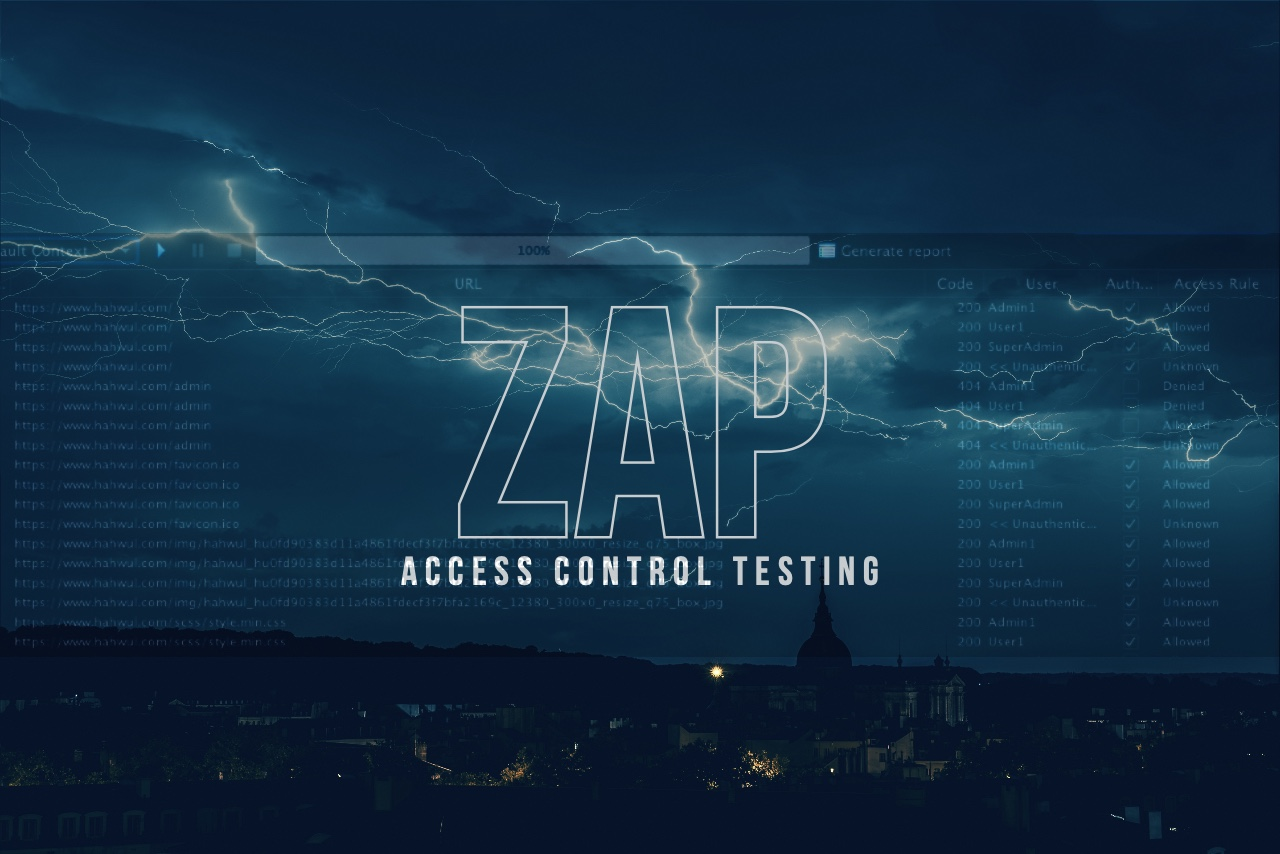 Featured image of post Testing Access-Control with ZAP