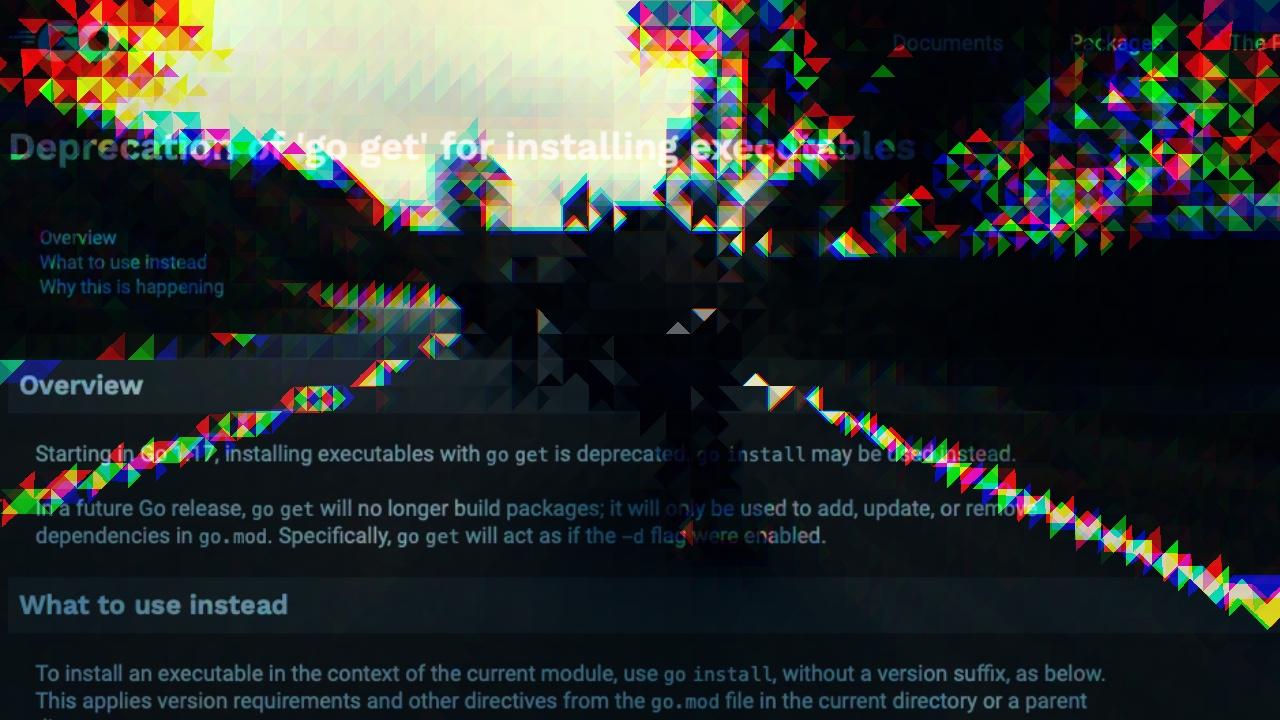 Featured image of post go executable app, 이젠 go install로 설치하세요!