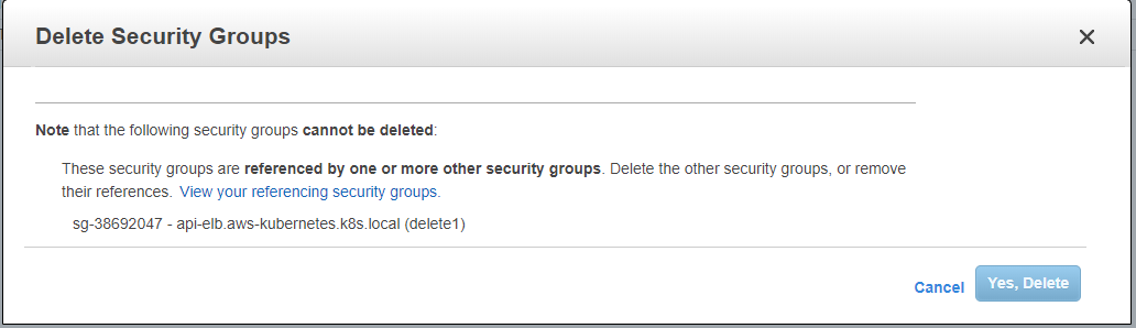 Unable to delete AWS Security Groups · Issue #6454