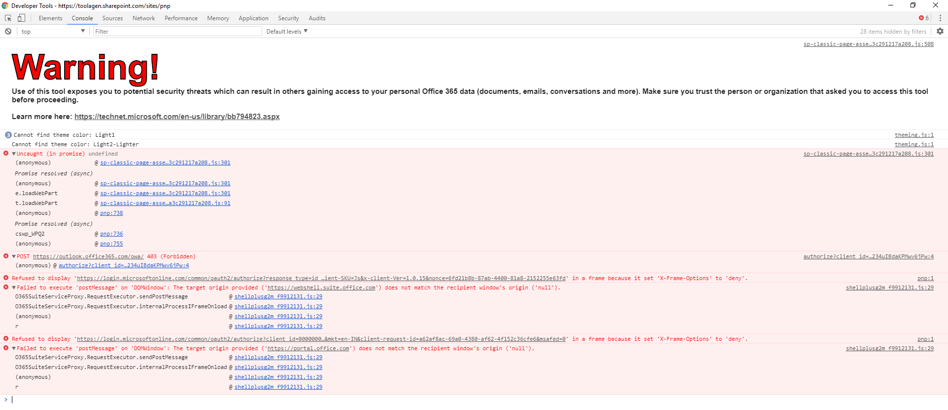 After deploying webpart to tenant it started throwing error