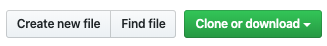 GitHub 'Create new file' Button bar picture