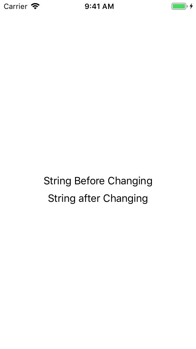 Screenshot after Changing