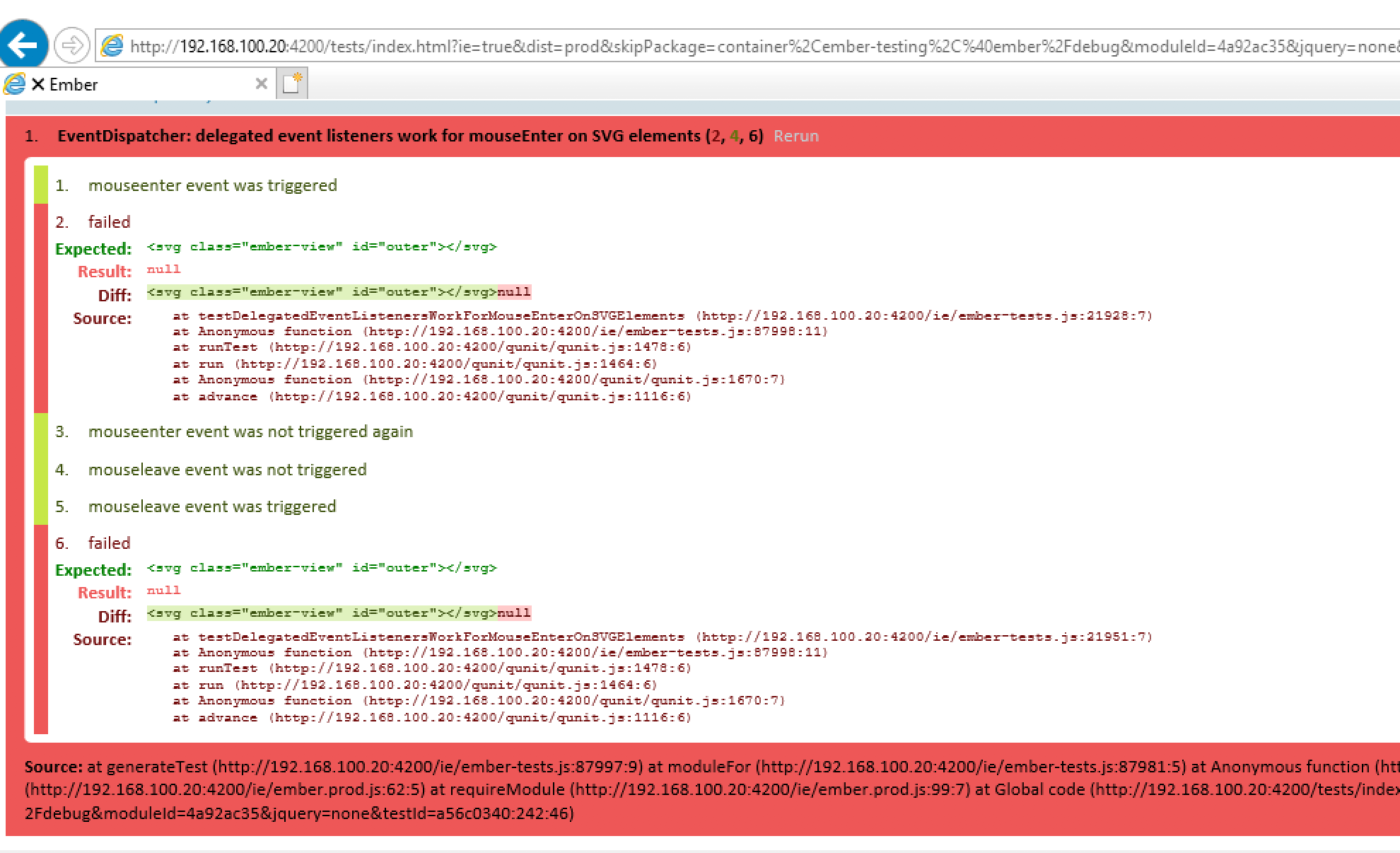 Event target not set for mouseEnter/Leave w/o jQuery in IE11