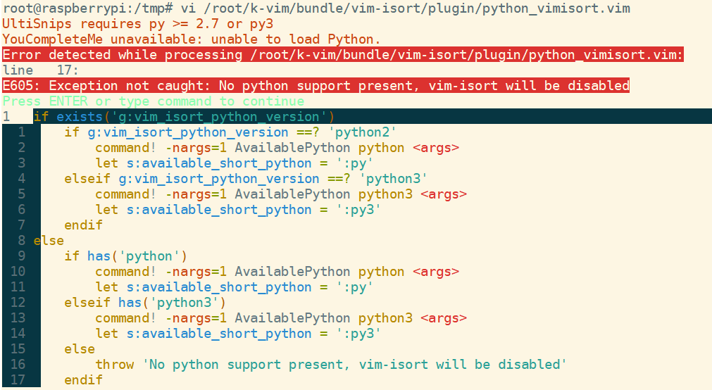 BUG : raspberrypi install failed ,cannot get python version · Issue