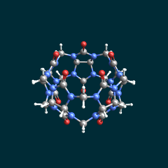cucurbituril rendered using MoleculeViewer