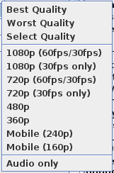 Feature Idea] Streamlink quality menu display string · Issue
