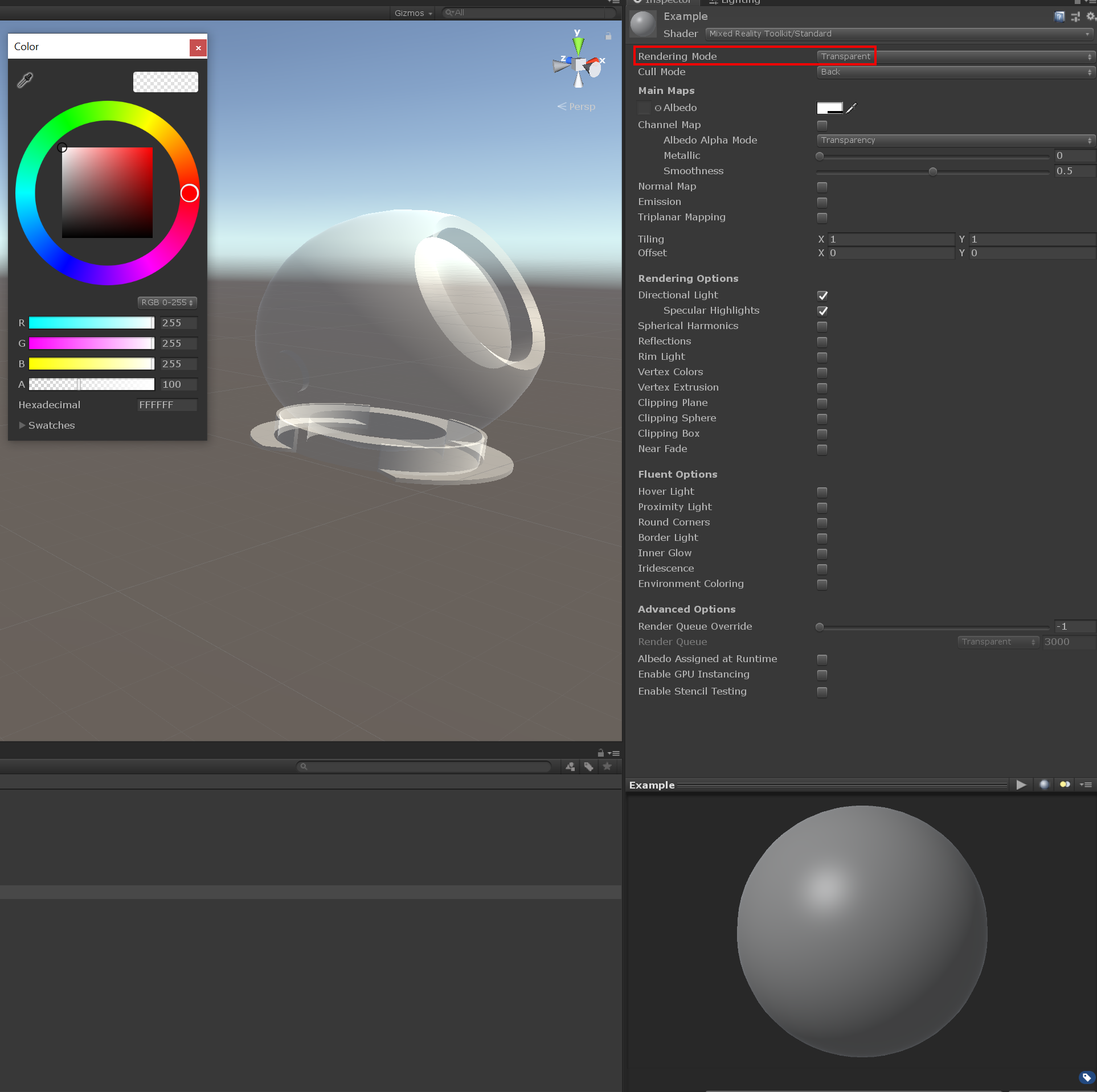 Unity Transparent Shader Not Working