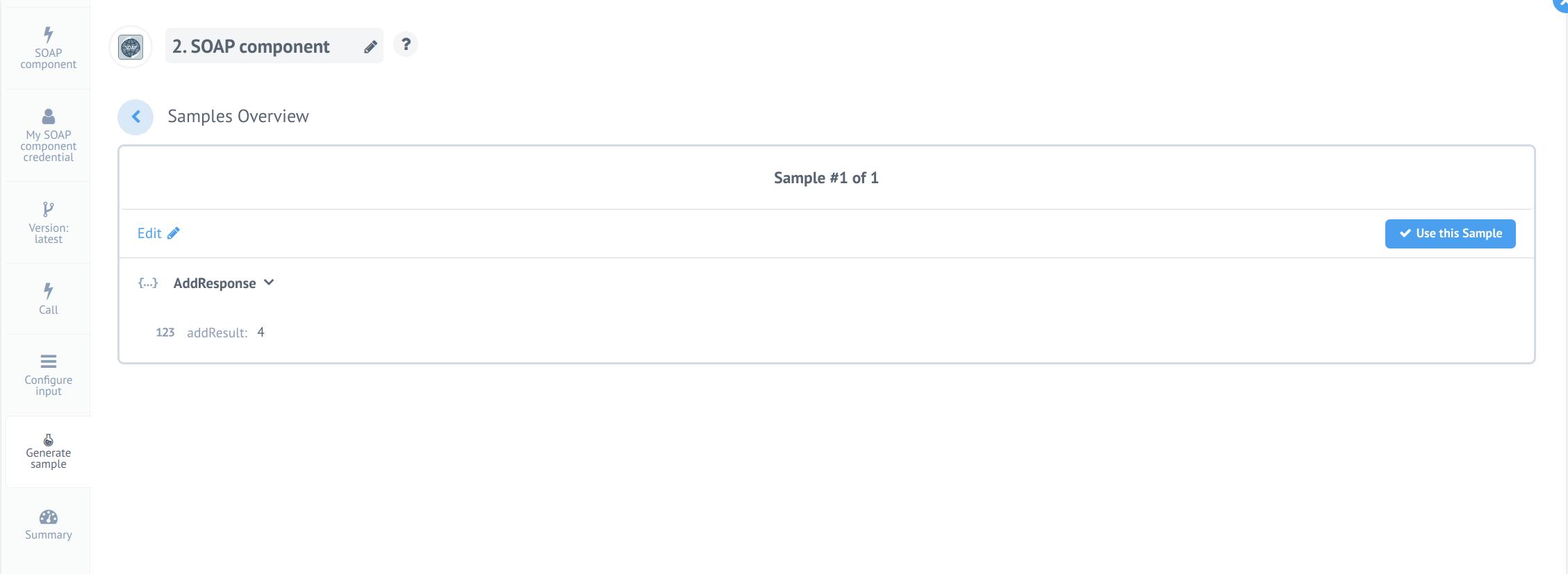 Step 6: Retrieve sample result