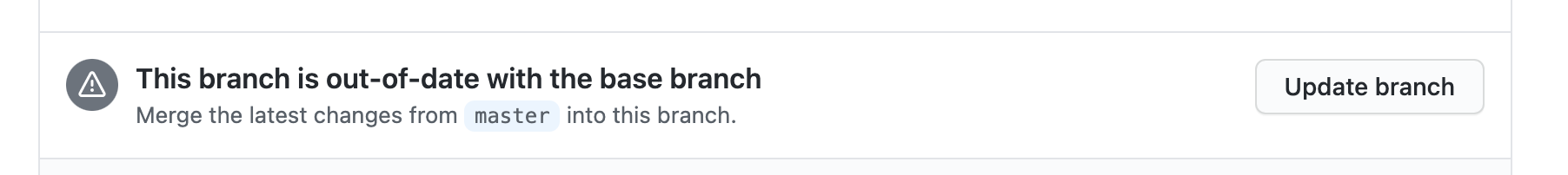Update branch