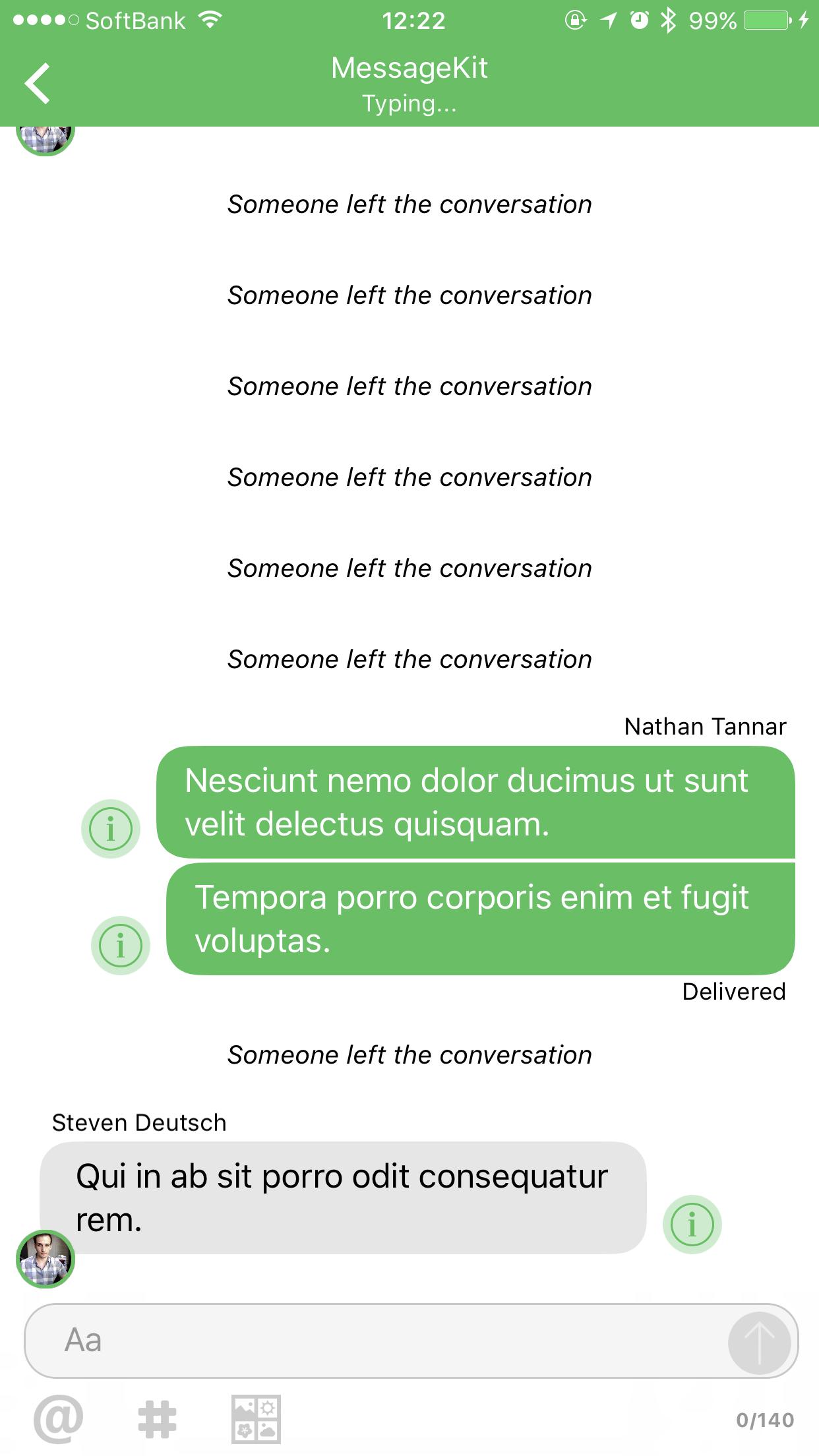 The messageInputBar overlaps the last message(messageKit 3 0 0 beta