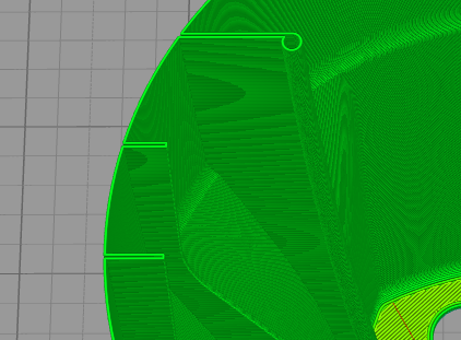 Vase mode not working for objects with