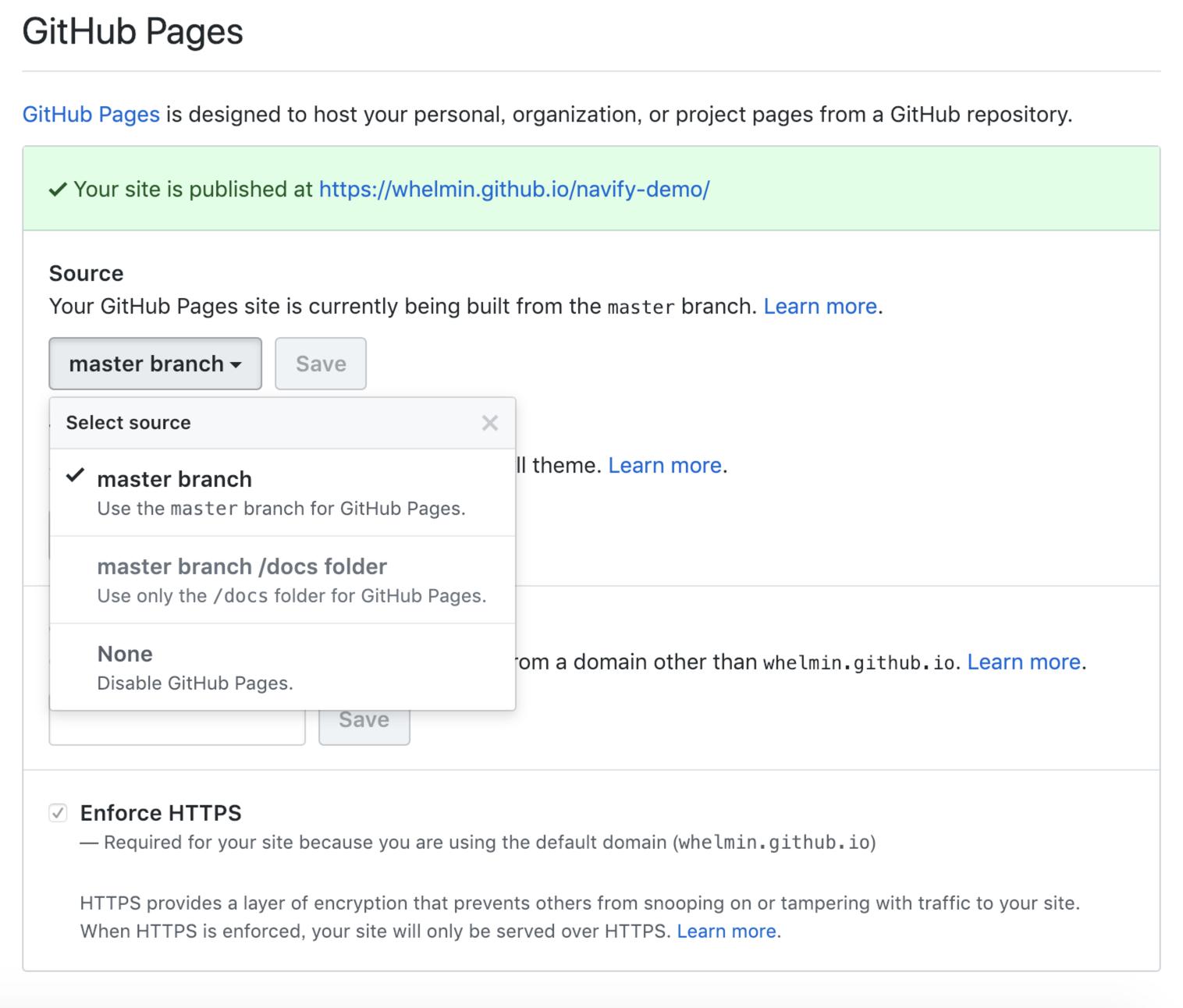 GitHub Pages 部署截图