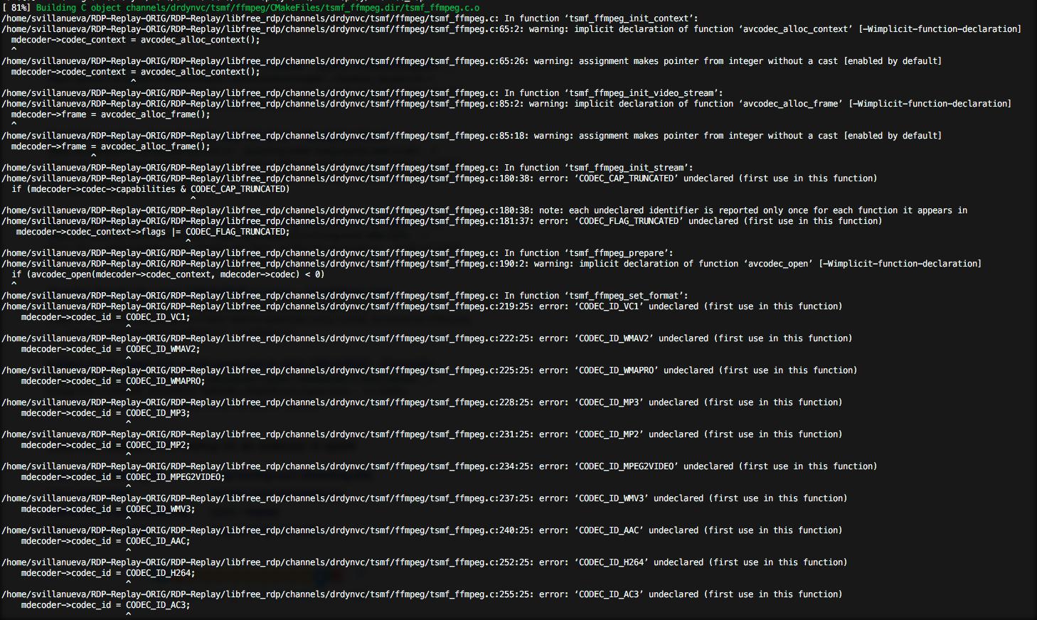 Error on Make · Issue #12 · ctxis/RDP-Replay · GitHub