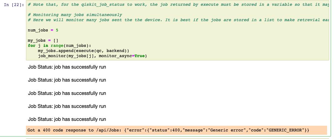 Got a 400 code response to /api/Jobs: {