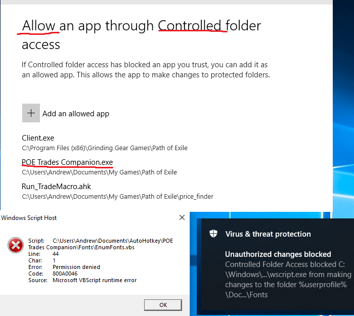 Add to controlled access in windows 10? · Issue #104 · lemasato/POE