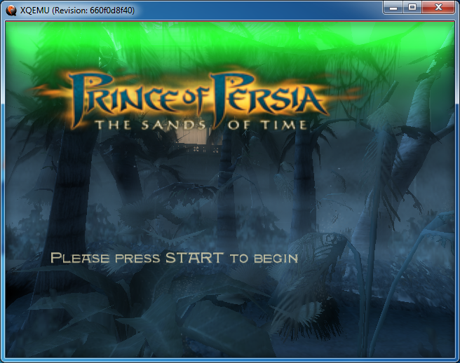 Prince of Persia - The Sands of Time: Green bar on top