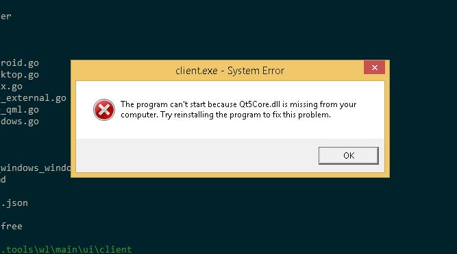 Window executable error · Issue #595 · therecipe/qt · GitHub