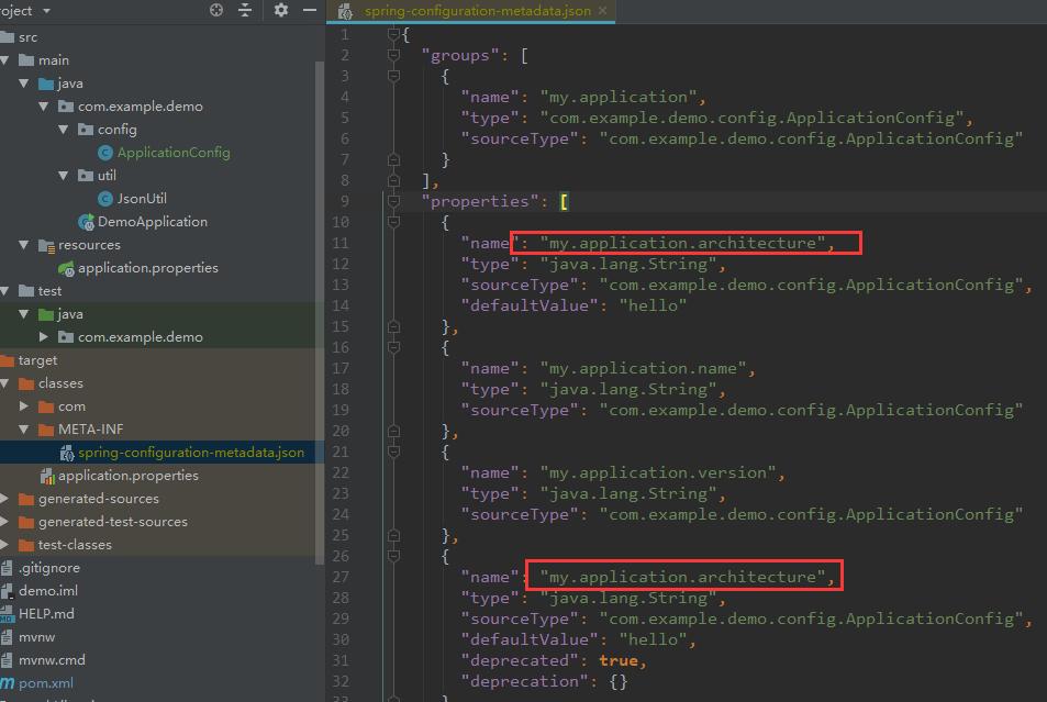 Duplicate metadata entry when lombok runs before spring-boot
