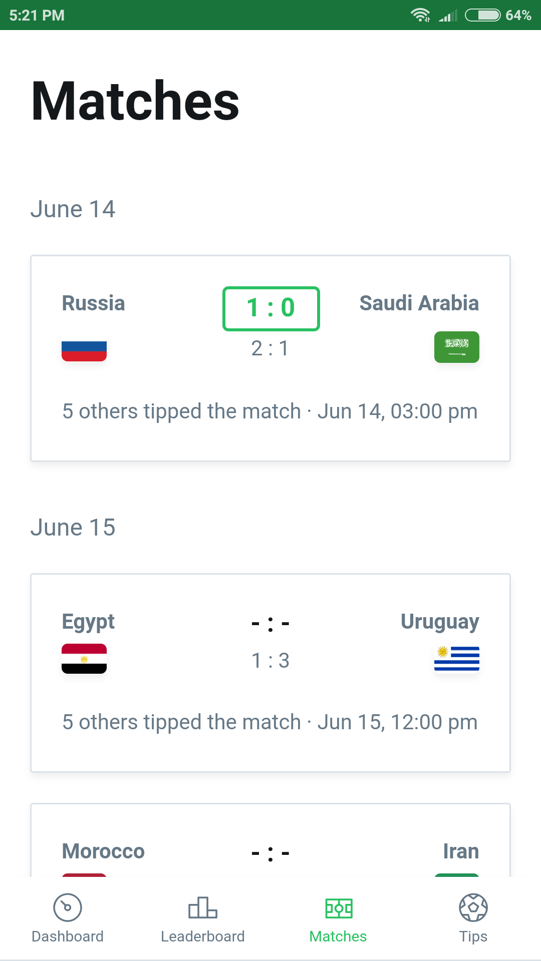 Live Matches Free Api Issue 23 Lsvfifa Worldcup 2018