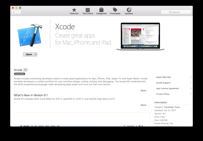Xcode 9.1