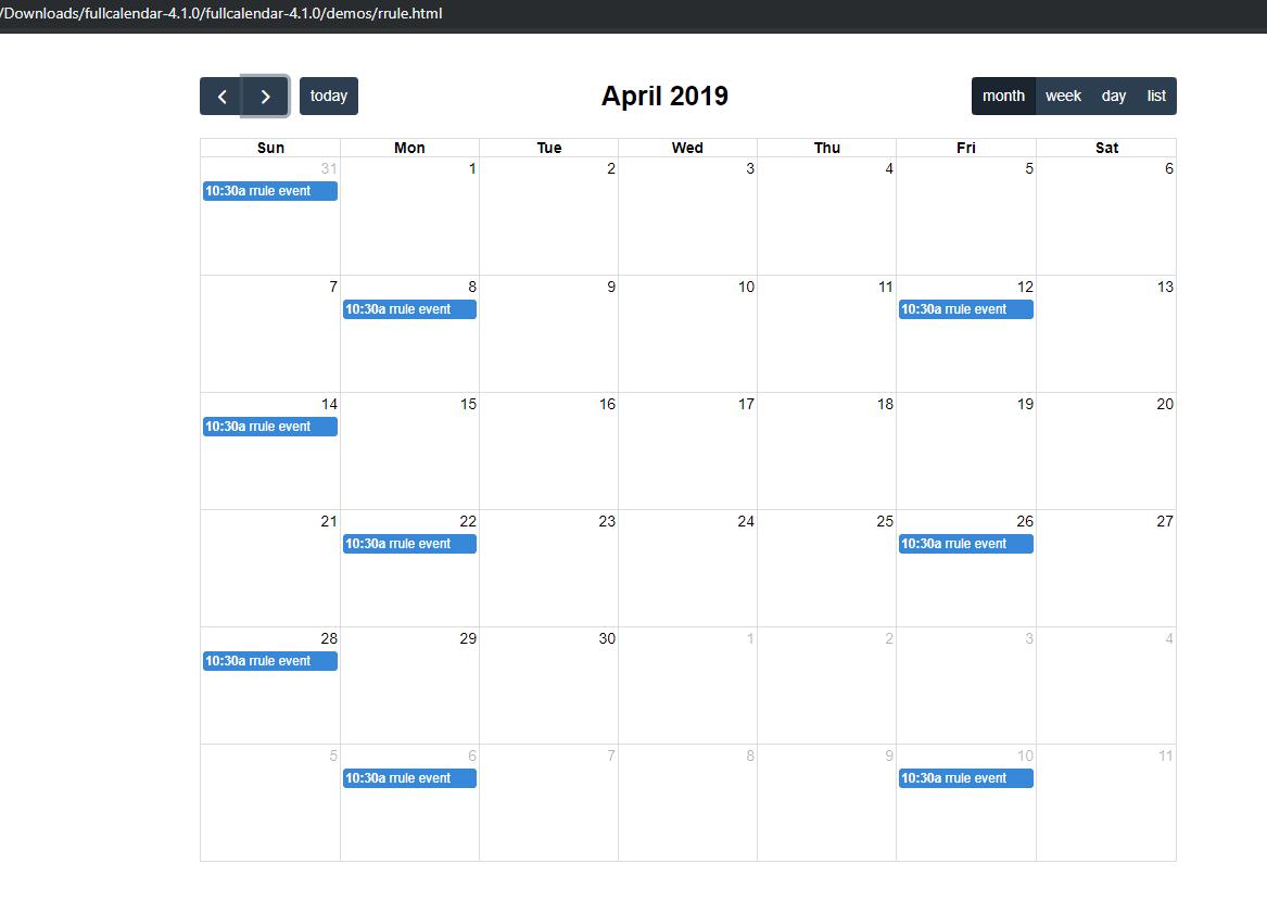 RRule week-start bug with 2-week-interval · Issue #4693