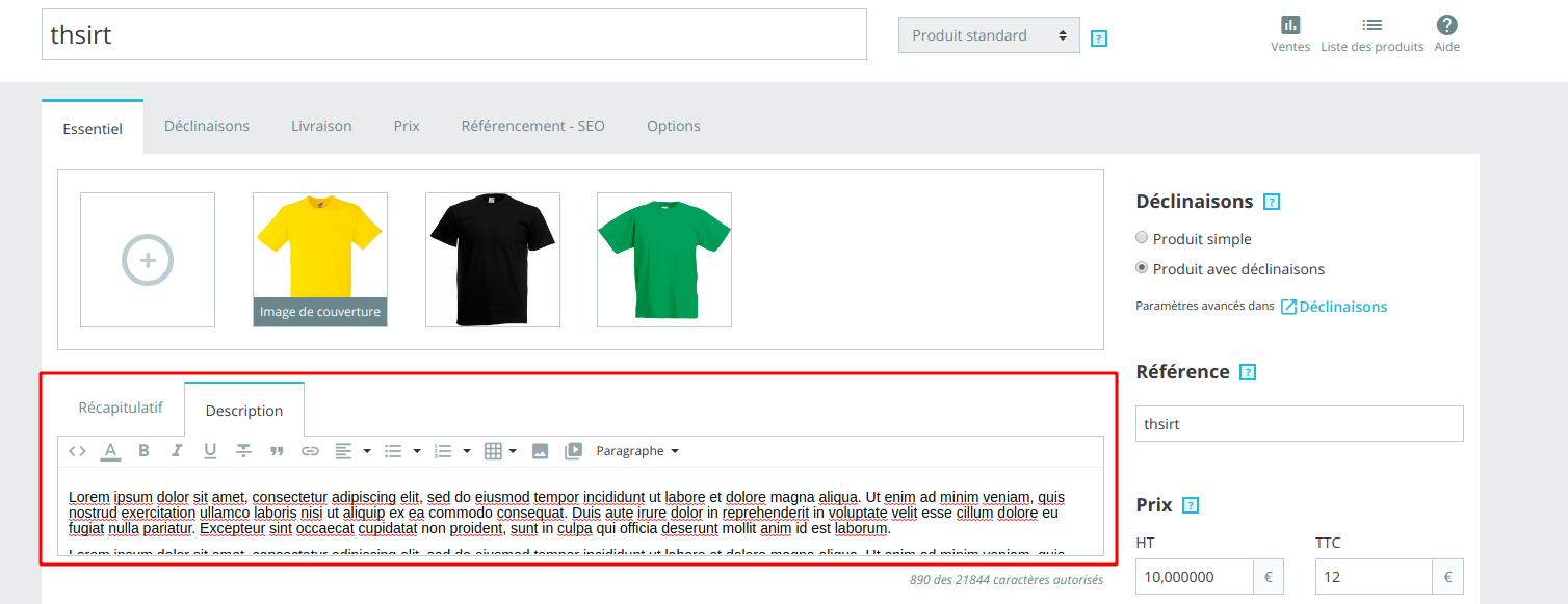 Height of wysiwyg editor on product page · Issue #10825 · PrestaShop