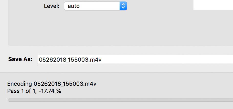 Progress goes into negative % values if encoding 4k H 265
