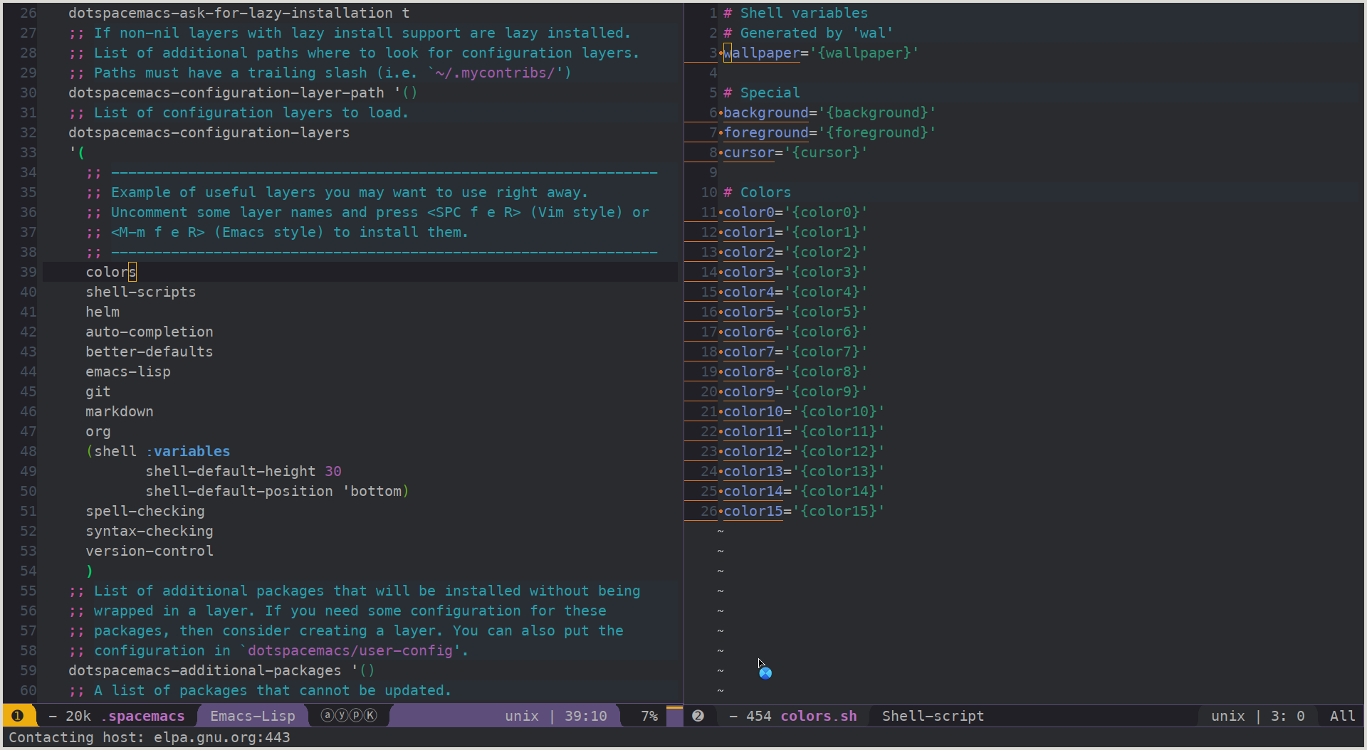 Added emacs colors by omrisim210 · Pull Request #43 · dylanaraps ...