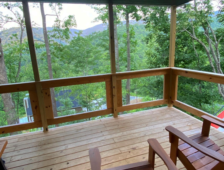 Vista da sacada da casa que fiquei hospedado no training camp.