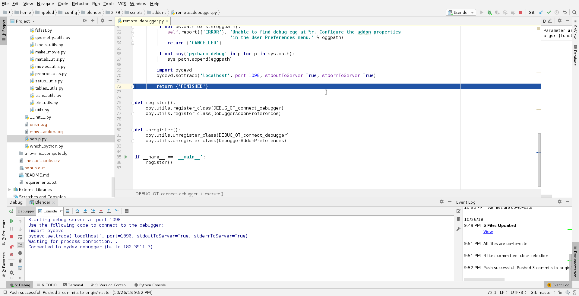 Debugging (Development) · pelednoam/mmvt Wiki · GitHub