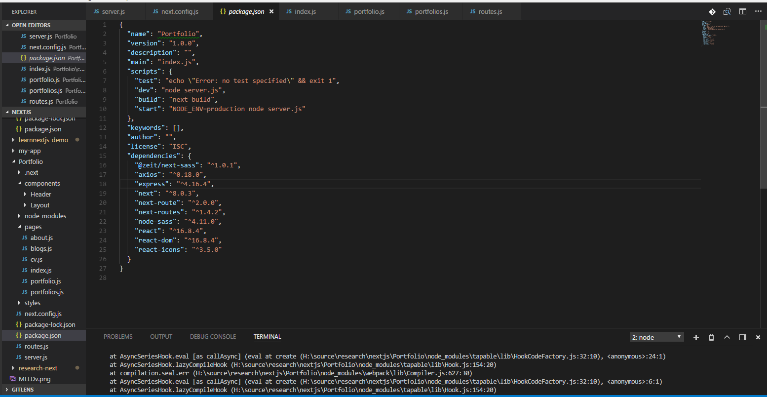 I don't config scss for next js [ scss TypeError: this
