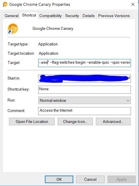 Windows Chrome Canary
