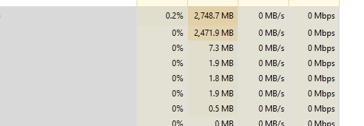 Can't cleanup worker memory 2 GB after rendering the 1,5m
