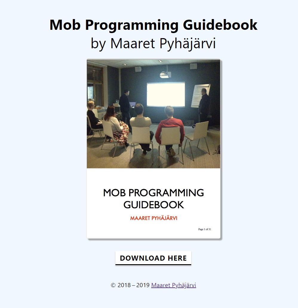 2019-05-24-mobprogrammingguidebook-website-redesign