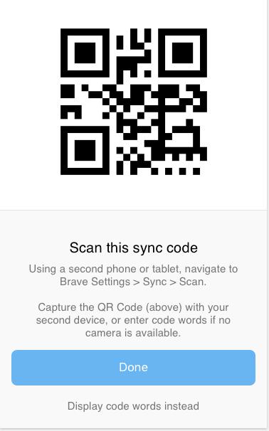 Sync v2: Add QR code generator API · Issue #498 · brave