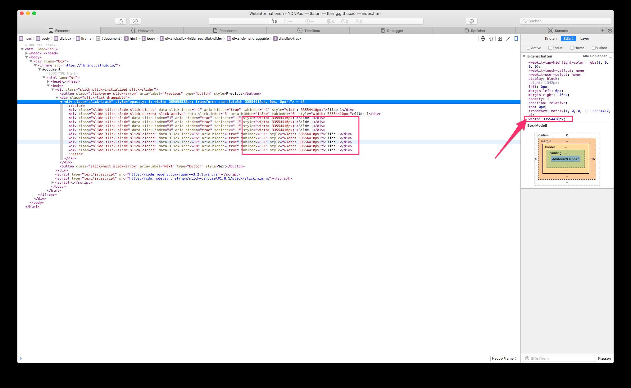 Slick inside iFrame stuck on iOS · Issue #2834 · kenwheeler