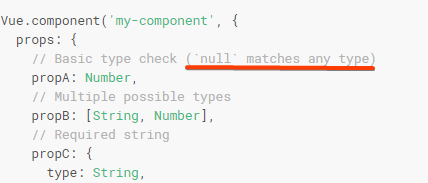 Null is not treated as Object in component prop check